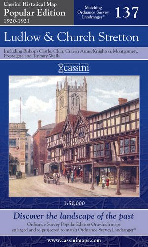 Ludlow and Church Stretton (Cassini Popular Edition Historical Map)