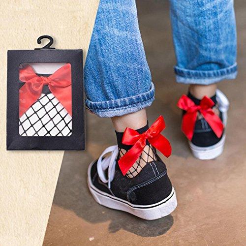 Mode Hohe Socken Frauen Spitze Socken Knöchel Socken Kurze Fischnetz HARRYSTORE Knoten 2017 Bow Rüsche Mesh D tH01qxSRw