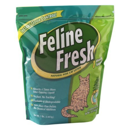 Image of Pack of 10 - Feline Fresh Natural Pine Cat Litter, 7 lbs