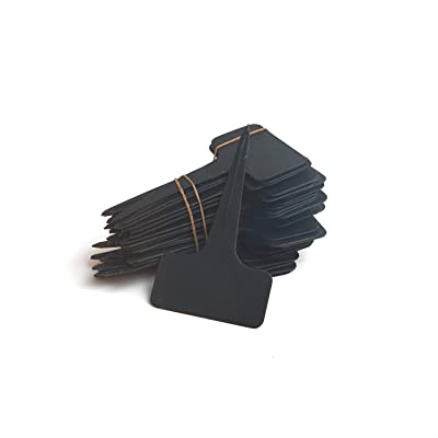 100 Pcs T Type Plant Labels PVC Material Waterproof for Seedling Patio Lawn Garden (Black): Industrial & Scientific