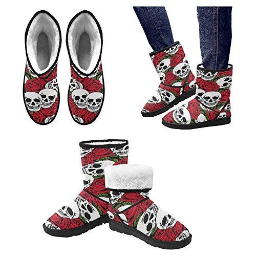 InterestPrint Womens Snow Boots Unique Designed Comfort Winter Boots Multi 12 BihXKrQBm
