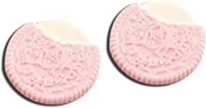 20pcs 26mm Cookie Cream Macaron Macaroon Bread Fake Food Miniature Fake Food Dessert Flat Back Cabochons Decoden Flatback DP271 (Pink)