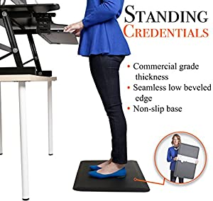 "Stand Steady DiploMat Anti-Fatigue Mat - 30"" x 20"" Ergonomic Anti-Fatigue Mat Designed for Offices, Cubes, Kitchens, Retail and More! - Your Passport to Healthier Joints, Knees & Feet! ... by Stand Steady"