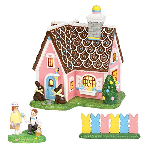 Department56 Original Snow Village Easter Sweets House Lit Building and Accessories, 7.08