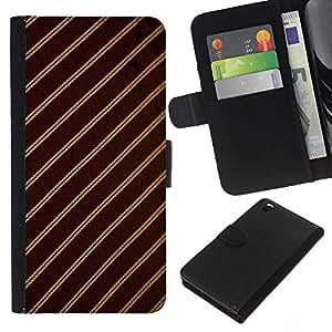 All Phone Most Case / Oferta Especial Cáscara Funda de cuero Monedero Cubierta de proteccion Caso / Wallet Case for HTC DESIRE 816 // Stripes Fabric Pattern Design Textile Brown