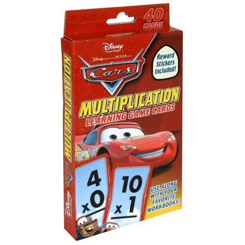 Disney/Pixar Cars Multiplication Learning Game Cards with Stickers (40 Flash Cards)