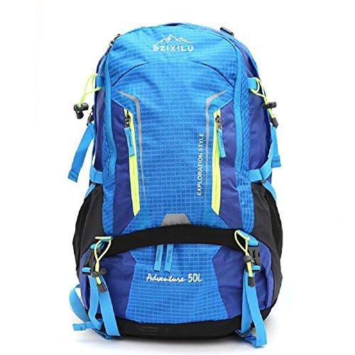 ZC&J Mochila de escalada de nylon al aire libre, impermeable sólido resistente al desgaste resistente al desgarro bolsa de viaje de alta calidad, los hombres y las mujeres universal, bolsa de hombro c C