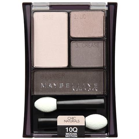 Maybelline New York Expert Wear Eyeshadow Quads, 10q Mocha Motion Chic Naturals, 0.17 Ounce (Garnier Mocha)