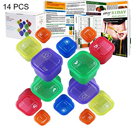 (21 Day Portion Control Container kit - 14 Pieces)