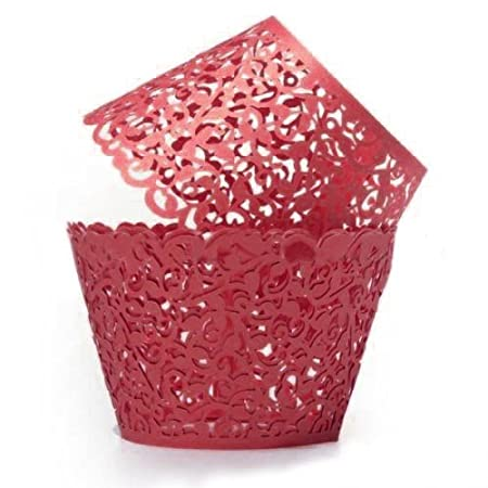 Artistic Cupcake Wrappers 120 Count, Filigree Vine Decor Cupcake Paper Gorgeous Cupcake Holders, Great for Party, Wedding, Birthday, Anniversary, Christening, Halloweens, Christmas (White) SoundsBeauty