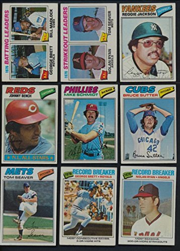 1977 Topps Baseball Complete 660 Card Set . Contains Andre Dawson, Dale Murphy Rookies, Hall of Famers Such As Nolan Ryan , Mike Schmidt, Reggie Jackson , George Brett and - 1977 Topps Jack