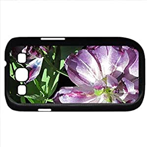 Flowers Blooms at the garden 29 (Flowers Series) Watercolor style - Case Cover For Samsung Galaxy S3 i9300 (Black)