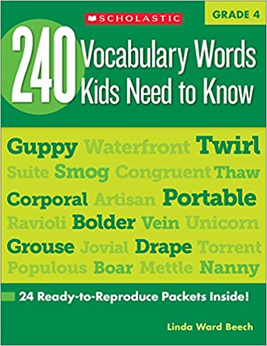 240 Vocabulary Words Kids Need to Know: Grade 4: 24 Ready-to ...