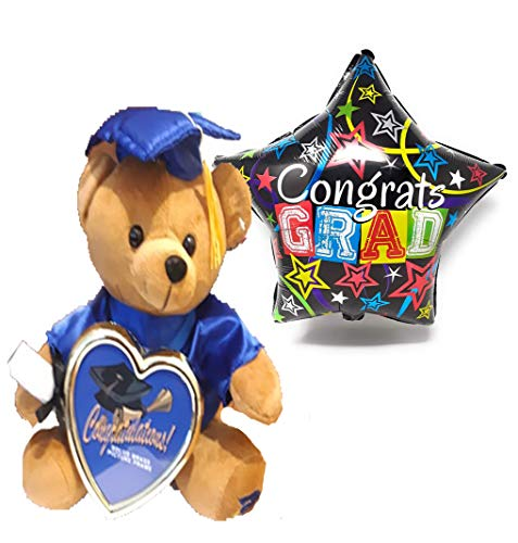 HappyToy Class of 2019 Plush Graduation Teddy Bear with Cap and Gown Congratulations - Cute and Cuddly - Present Gift -