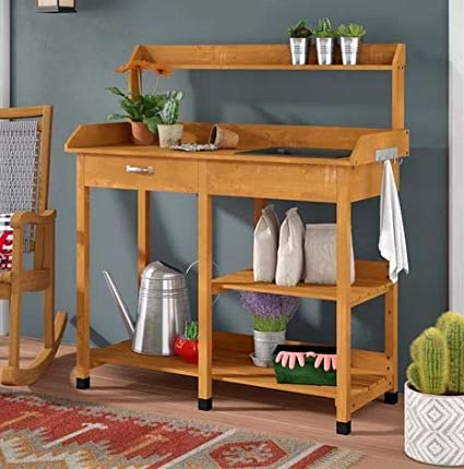 Amazon.com: Potting Table-Potting Benches for Outside- Light ...