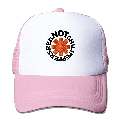(Red Hot Chili Peppers Baseball Cap Trucker Hat For Male/Female Adjustable 100% Nylon Pink)