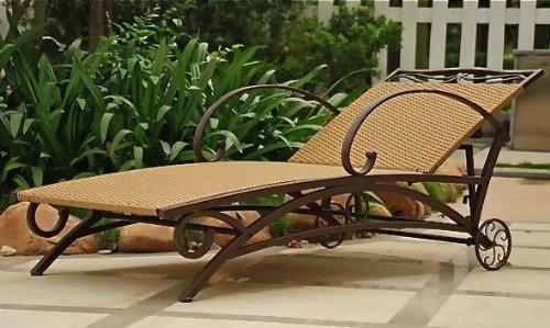 Valencia Outdoor Wicker Multi Position Chaise Lounge by International Caravan