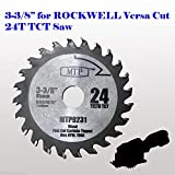 24 Carbide Tip 3-3/8-inch Mix Wood & Metal Circular Saw Blade for...