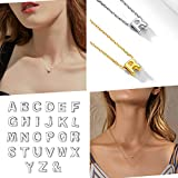 925 Sterling Silver Tiny Dainty Initial Necklace