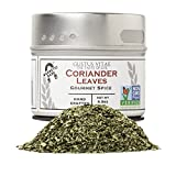 Cilantro / Coriander Leaves | Non GMO Project Verified | Packed In Magnetic Tins | Sustainable | Grown in USA | All Natural | Not Irradiated | Crafted By Gustus Vitae | 0.3 Oz Net Weight | 4 Oz Tin