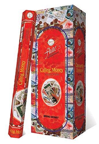 monthlysupply Incense Sticks Flute Calling Money 120 Sticks Hexa Packs