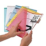 Ultimate Office PocketFiles Translucent Poly File Folders, 5th-Cut, Letter Size (Set of 25)