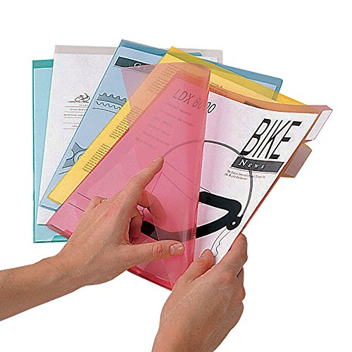 Ultimate Office PocketFiles Translucent Poly File Folders, 5th-Cut, Letter Size (Set of 25) by Ultimate Office