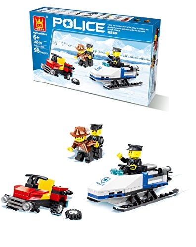 pcs Set, Police BlocksCompatible with Other Major Brands Parts, DIY Fun Building Blocks, Great Gift For Kids. (Skill Builders Mobile)