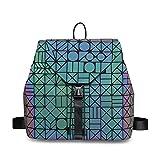Geometric Backpack Purse for women Luminous Travel backpack School Backpacks Backpack for Women