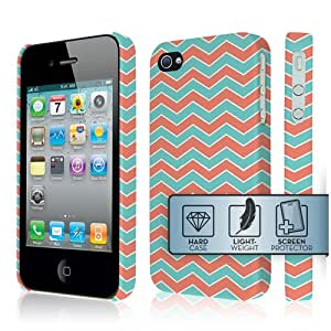 Green Stripe Hard Cover Case for Apple iPhone 4 4S X87V