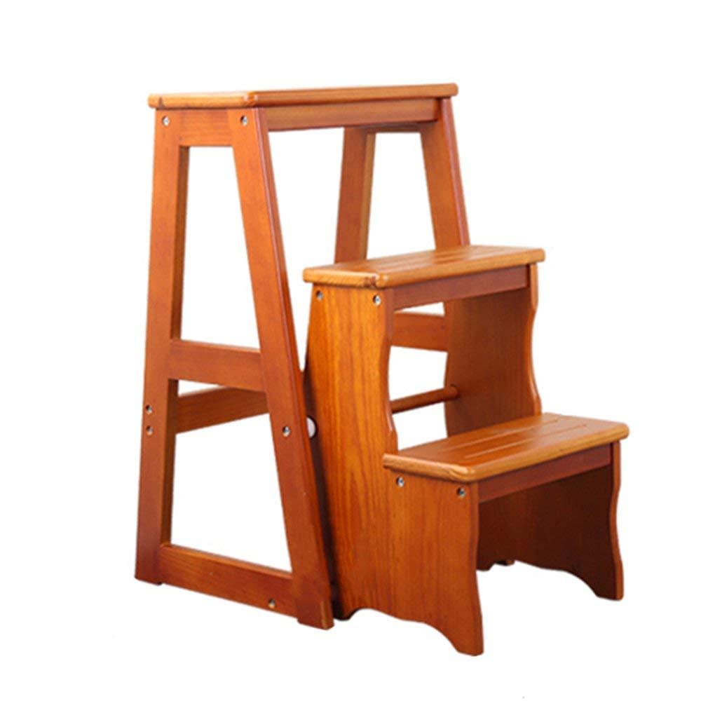 AOLI Scaletta Scaletta Scaletta Scaletta pieghevole in legno massello Sgabello con scaletta multidivertimentozione 'S Step Sgabello Poggiapiedi portatile Sgabello pieghevole