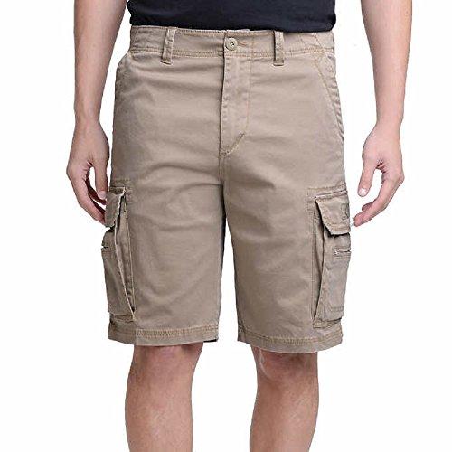UNIONBAY Men's Wyatt Stretch Cargo Short (34, Tan) (Cargo Unionbay For Men Pants)