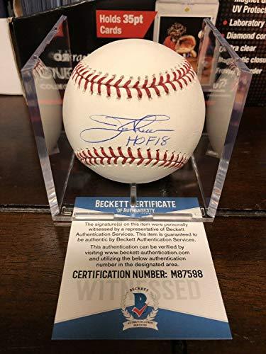 Jim Thome Autographed Signed Official Rawlings MLB Baseball Beckett Coa Cube Hof - Authentic Memorabilia ()