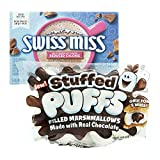 Stuffed Puffs Chocolate Filled Marshmallows & Swiss Miss Milk Chocolate Flavor Reduced Calorie Hot Cocoa Mix