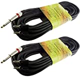 2 x 50 FT foot feet pro audio 1/4 to dual banana plug speaker cable PA 16 gauge