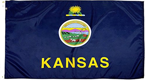 FlagSource - Kansas Nylon State Flag - Proudly Made in USA