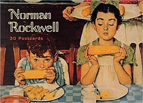 norman rockwell 30 postcards gift line