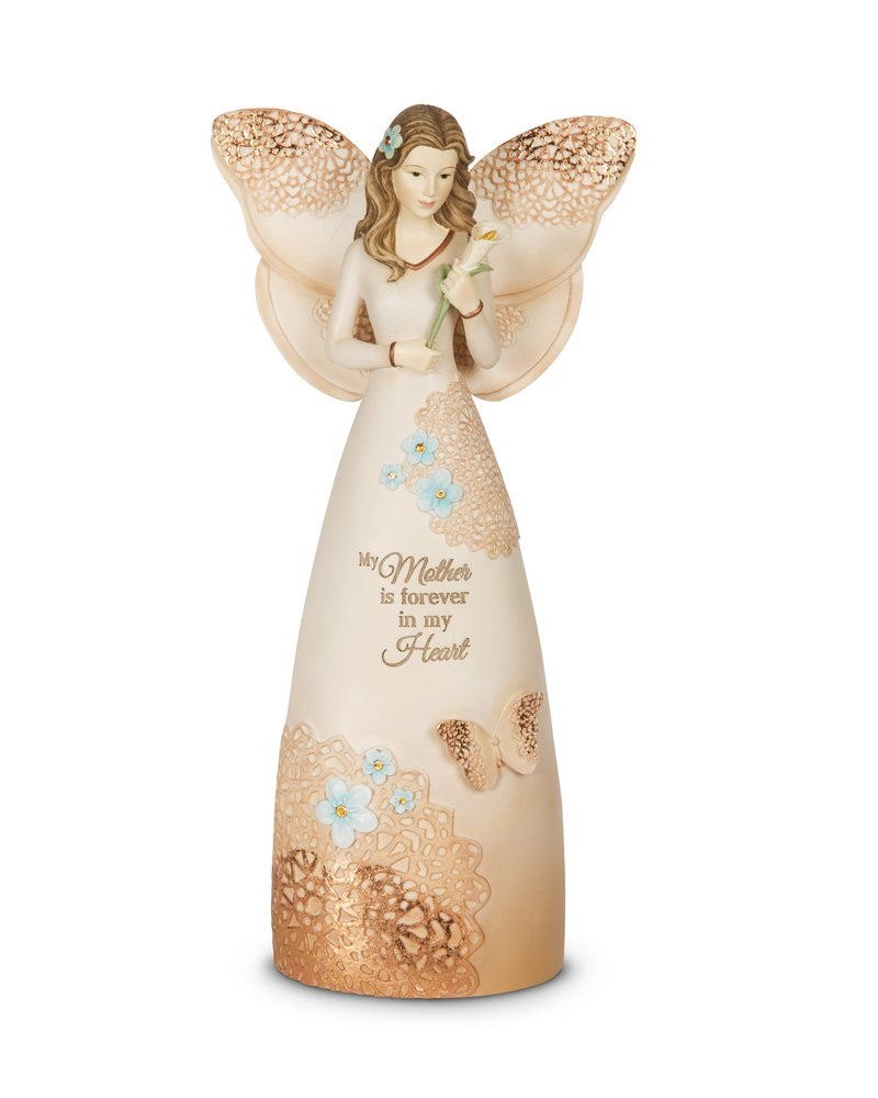 Light Your Way 19043 Memorial Mother Angel Figurine, 9 9 Pavilion Gift Company