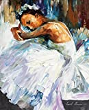 BALLERINA 2 is an Original Oil Painting on Canvas by Leonid Afremov. Image: 48 x 48. Gallery Retail is $10,500. The artwork is in perfect condition. It is an Original artwork. It is NOT a gicl'e or recreation of the original - Again, it is the ORIGIN...