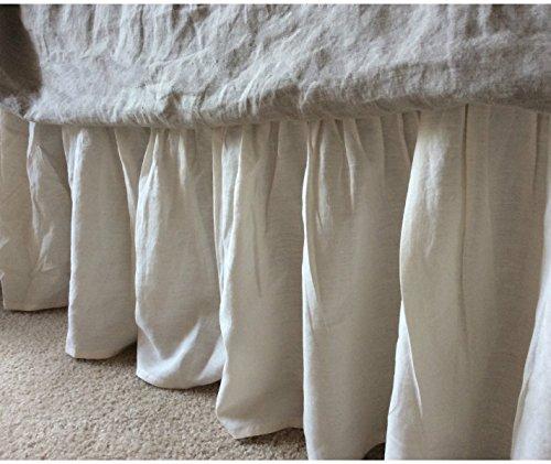 Amazon Com Ivory Cream Bedskirt Cream Linen Bed Skirt Natural