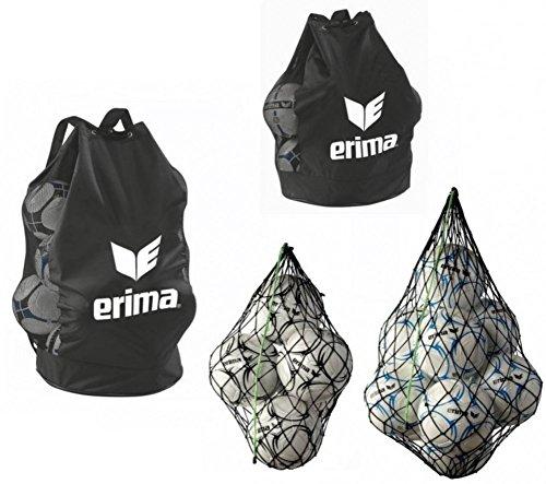 Erima Ballnetz Ballsack Balltasche für 5, 10, 12 oder 18 Fussbälle, Balltaschen:12'er Ballsack