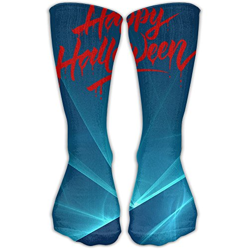 Bloody Words Of Happy Halloween Silhouette Fashion Breathable Quick Dry 30cm Socks Unisex -