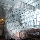 SIOFSVDFDFASDD Square netting curtains,Double home nets Encryption thickening netting beddinginsect protection repellent shield for home & travel1 Princess wind u-rail track beds-B Queen2