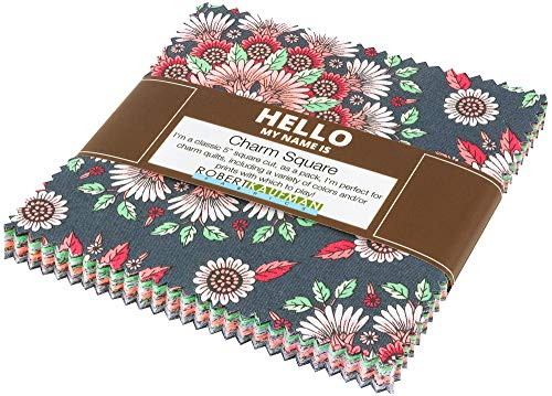 Delphine Blush Colorstory Charm Square 42 5-inch Squares by Andie Hanna for Robert Kaufman, CHS-701-42
