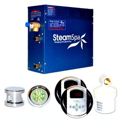 Steam Spa RY900CHC Royal Complete Package with 9kW Steam Generator, Chrome - Kilowatt Steam Generator