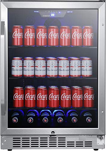 EdgeStar CBR1502SG 24 Inch Wide 142 Can Built-in Beverage Cooler with Tinted Door by EdgeStar (Image #7)