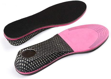 SUPVOX 1 Par de Plantillas para Pie Medio Plantillas para Zapatos con Alzas Elevadora de Silicona y Tela Invisible para Mujer y Hombre 5cm negro
