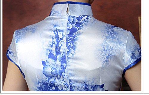 ACVIP Abenkleid Damen Lang Muster Qipao Wassertropfen Cheongsam Chinesische r1cfprxn