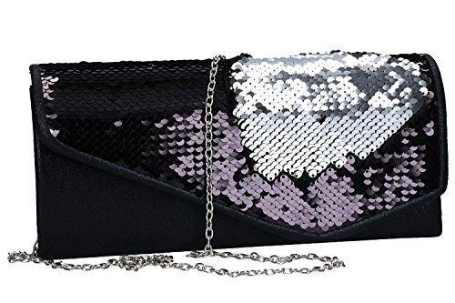 ceremony button bag woman Clutch BORSE LUCA VN2004 black elegant opening HwZxIqR