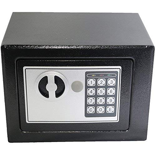 Electronic Deluxe Digital Security Safe Box Keypad Lock Home Office Hotel Business Jewelry Gun Cash Use Storage (Black 1) -